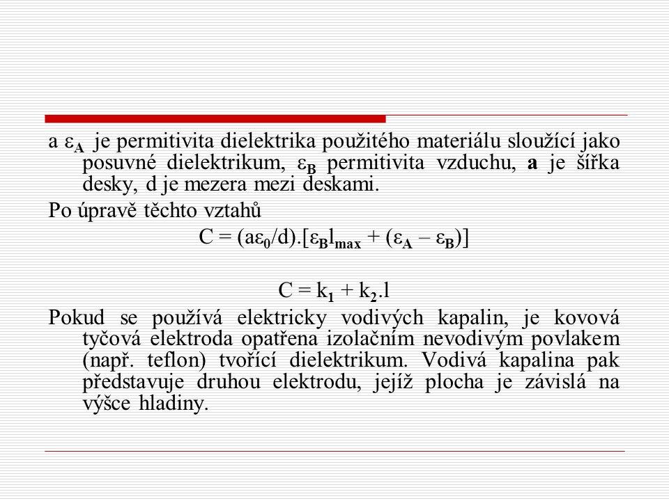 C = (aε0/d).[εBlmax + (εA – εB)]